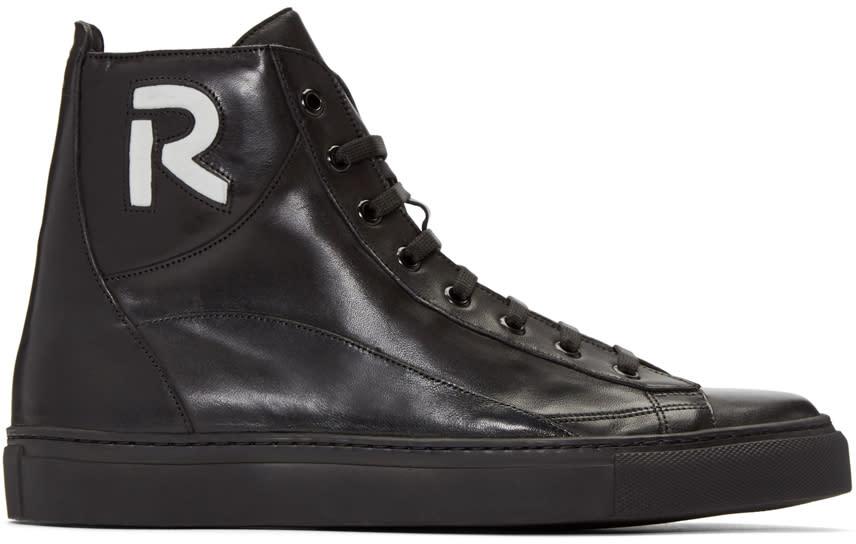 Raf Simons Black r High-top Sneakers