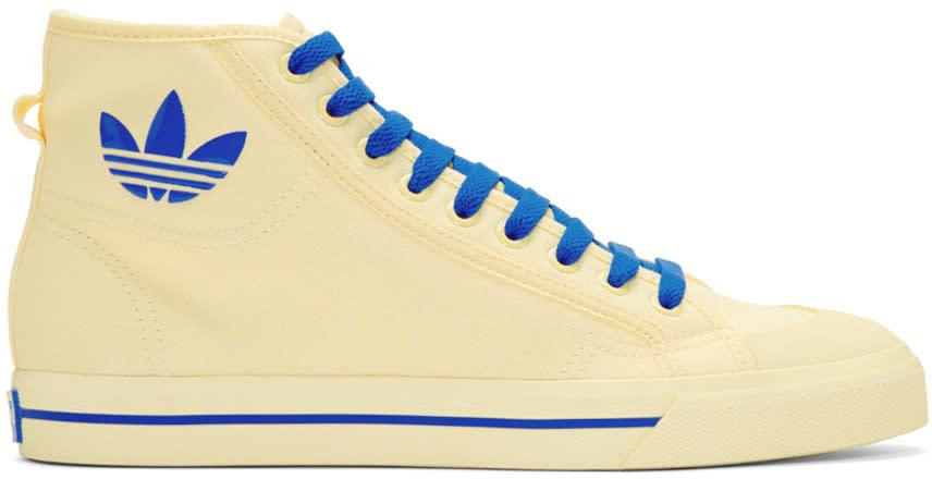 Raf Simons Ivory Adidas Edition Matrix Spirit High-top Sneakers