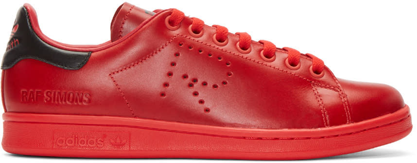 Raf Simons Red Adidas Edition Stan Smith Sneakers