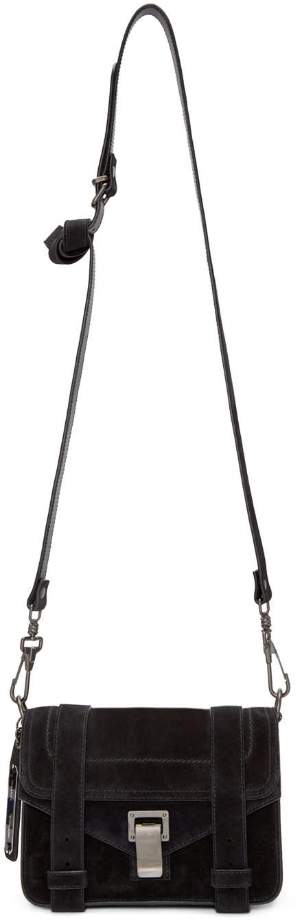 Proenza Schouler Black Suede Mini Ps1 Bag