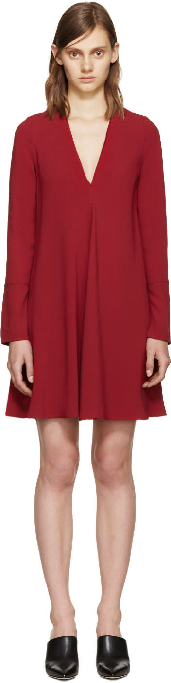Proenza Schouler Burgundy Crepe Dress