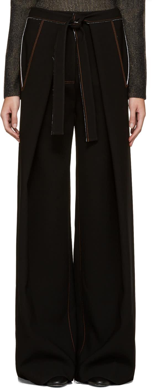 Proenza Schouler Black Baggy Trousers