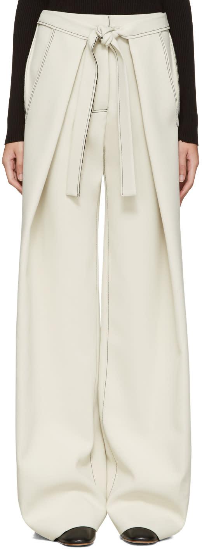 Proenza Schouler Ecru Baggy Trousers