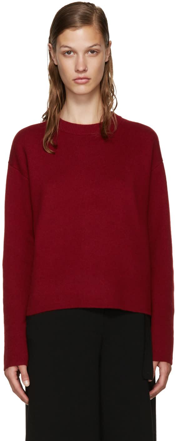 Proenza Schouler Burgundy Open-back Sweater