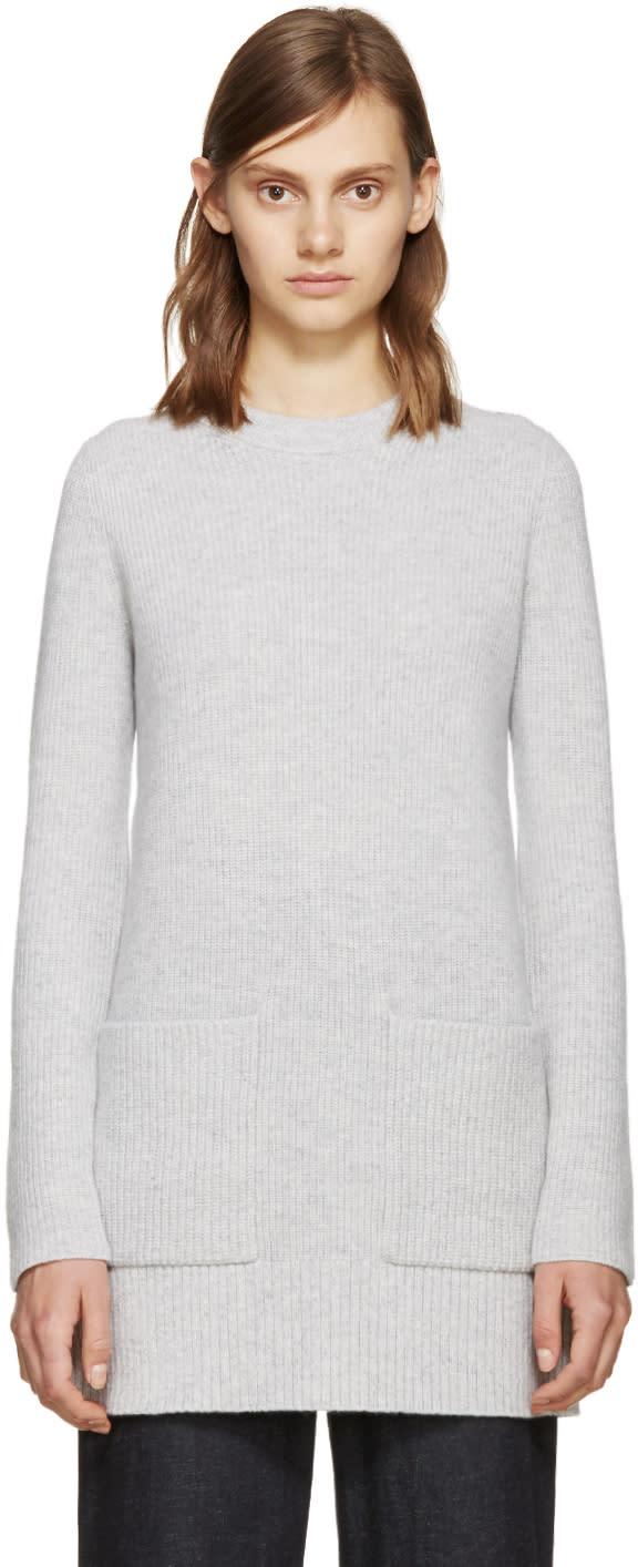 Proenza Schouler Grey Wool Knit Sweater