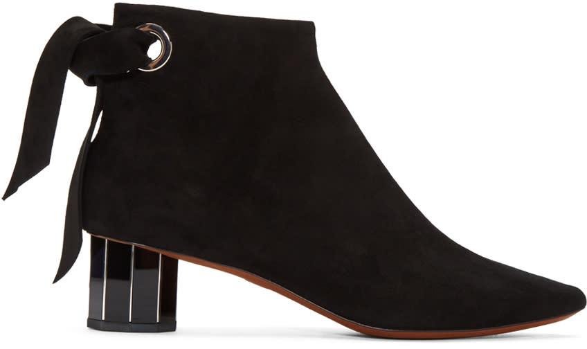 Proenza Schouler Black Suede Boots
