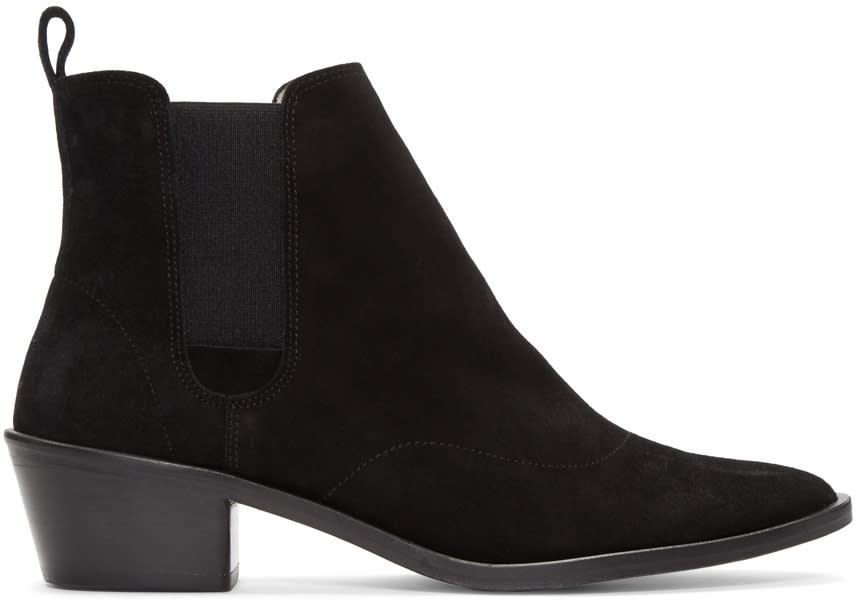 Repetto Black Suede Auguste Boots