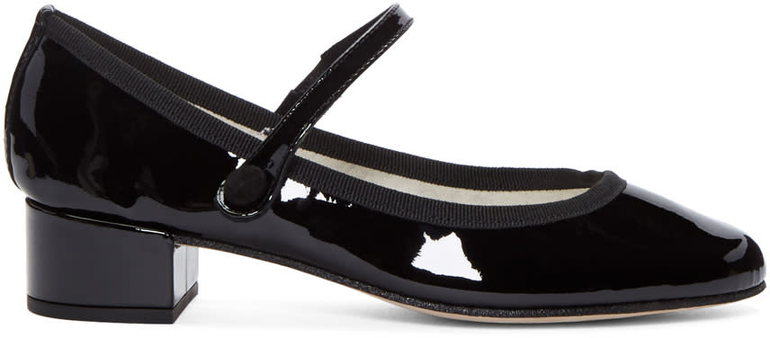 Repetto Black Patent Leather Babies Heels