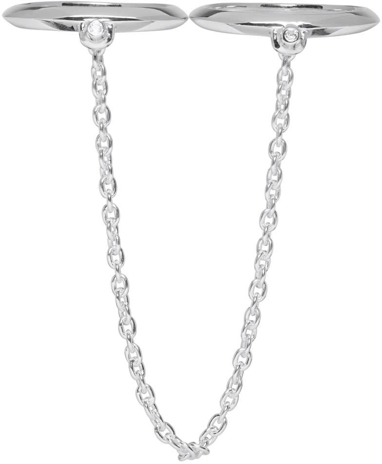 Pamela Love Silver Double Suspension Ring