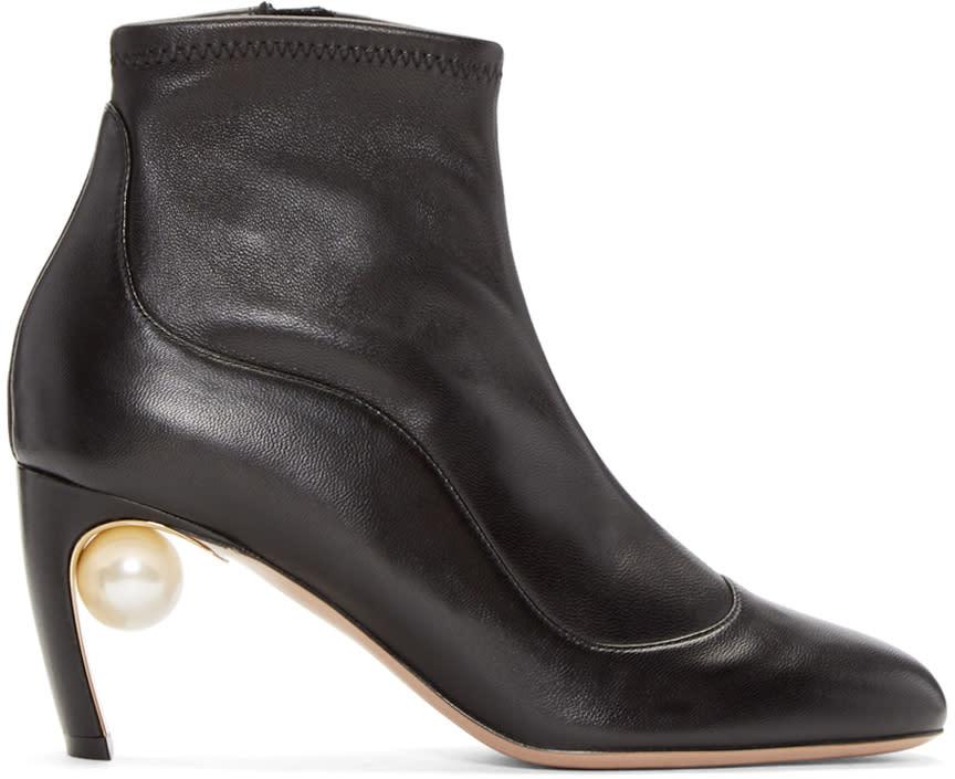 Nicholas Kirkwood Black Maeva Pearl Ankle Boots