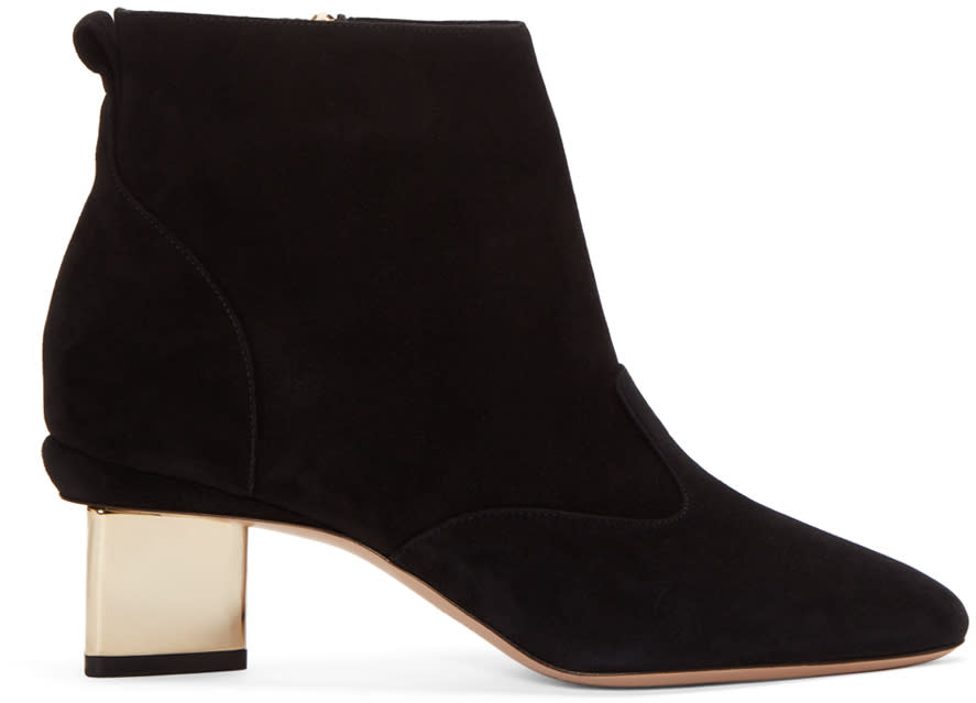 Nicholas Kirkwood Black Suede Prism Boots