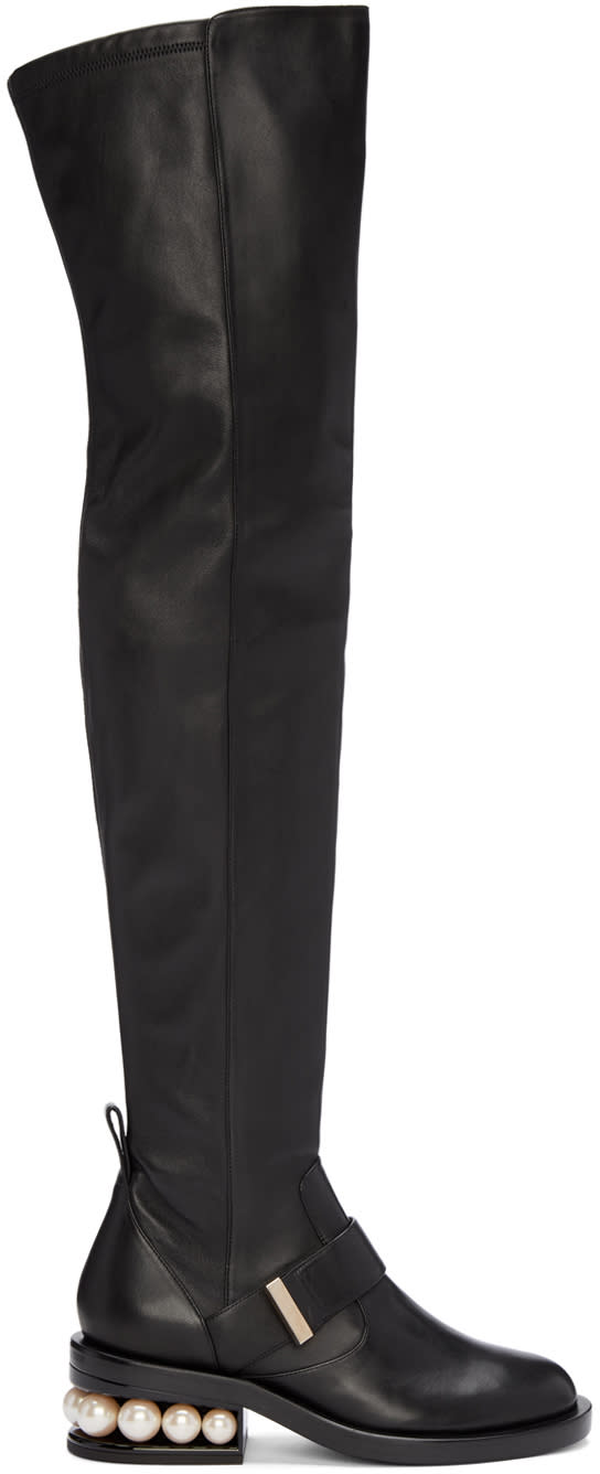 Nicholas Kirkwood Black Casati Over-the-knee Boots