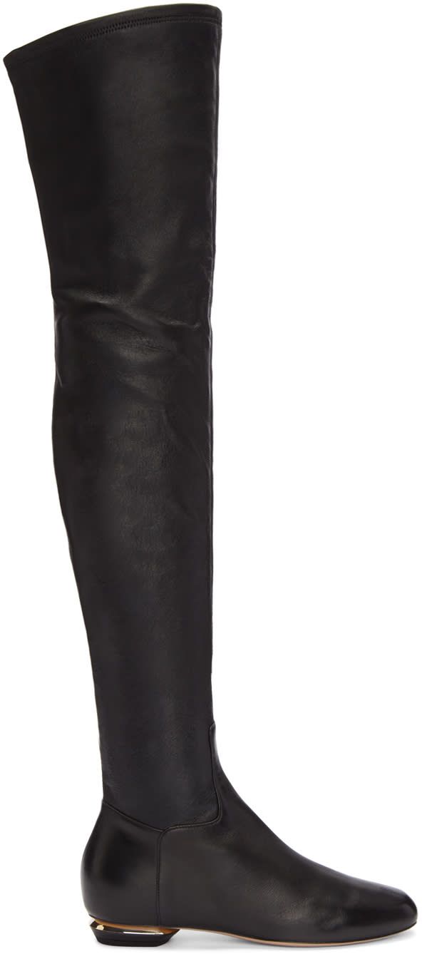 Nicholas Kirkwood Black Beya Over-the-knee Boots