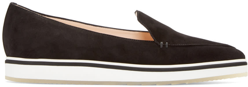 Nicholas Kirkwood Black Suede Alona Loafers