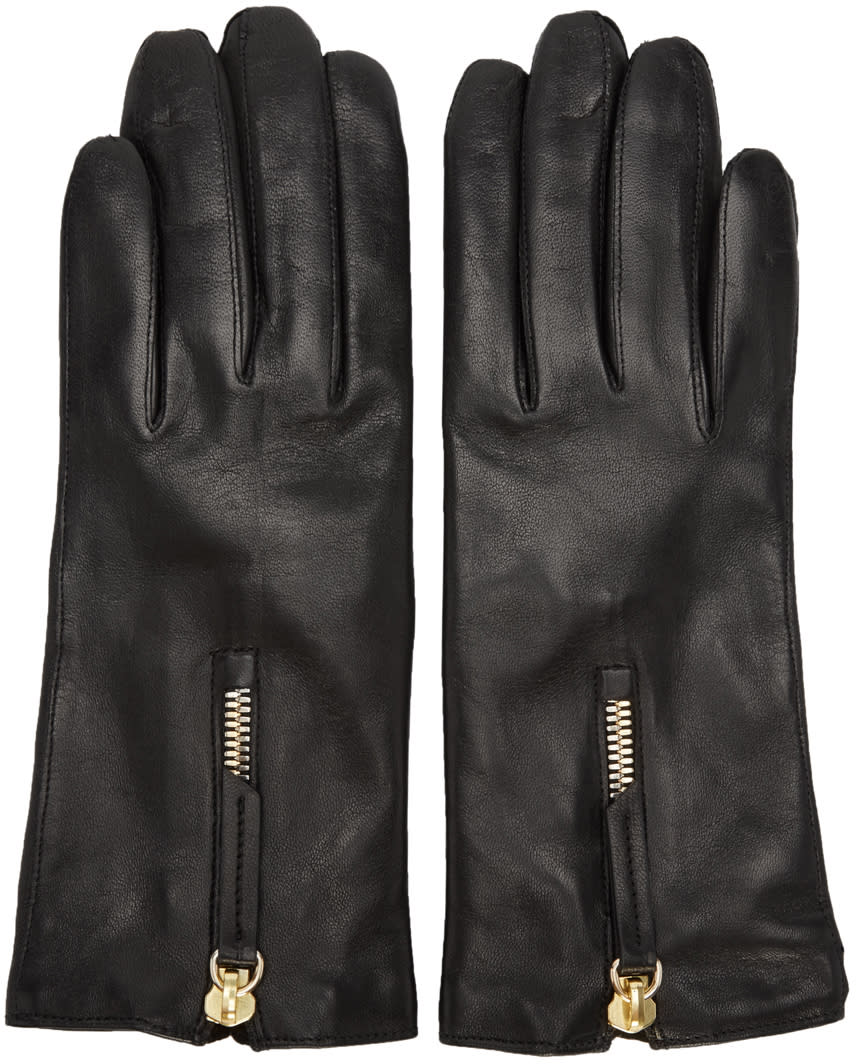 Want Les Essentiels Black Leather Mozart Gloves