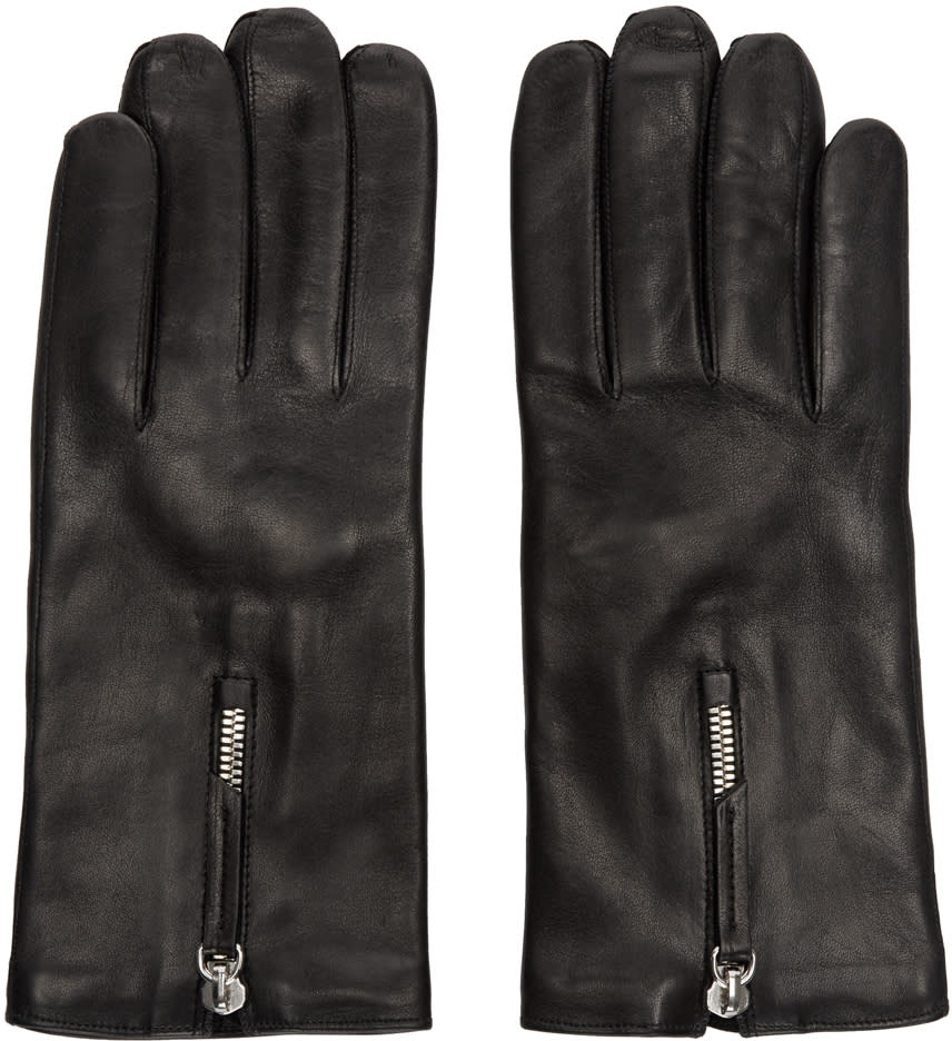 Want Les Essentiels Black Leather Gloves