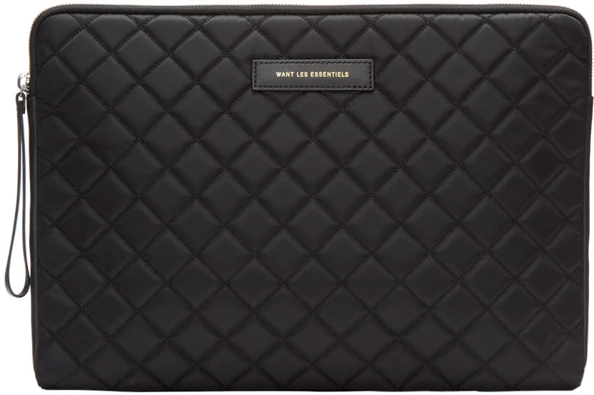 Want Les Essentiels Black Florio Laptop Case