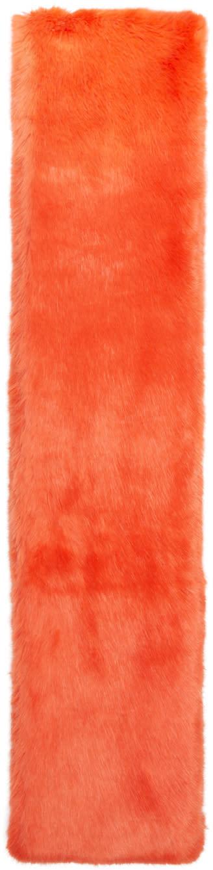 Carven Orange Faux-fur Scarf