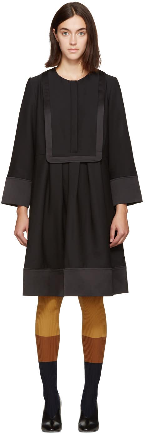 Carven Black Bib Front Dress