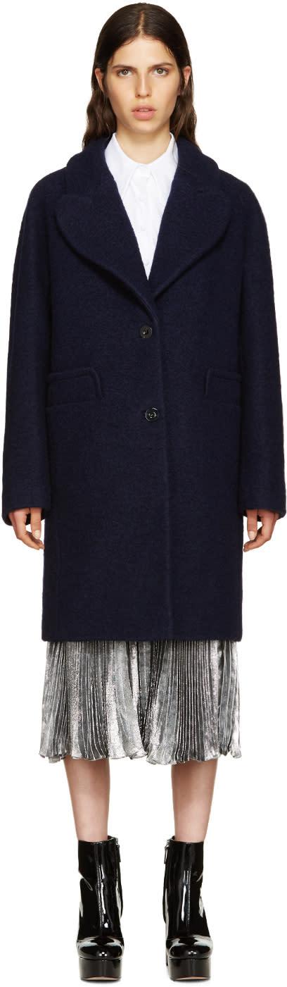 Carven Navy Wool Coat