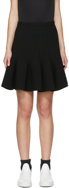 Carven Black Flared Miniskirt