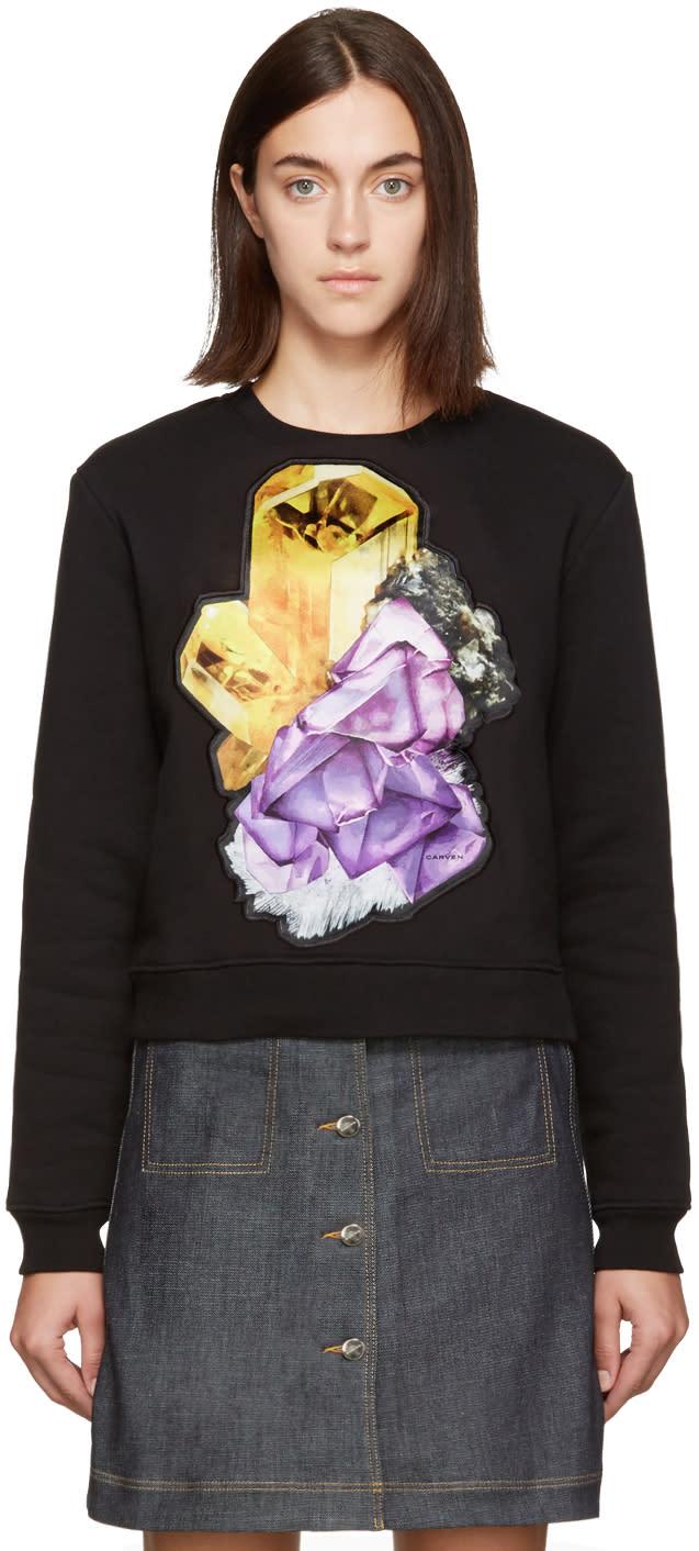 Carven Black Crystal Sweatshirt