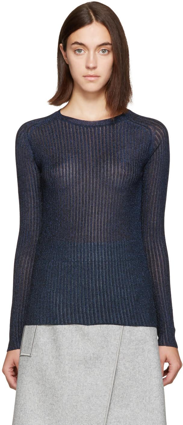 Carven Navy Metallic Pullover