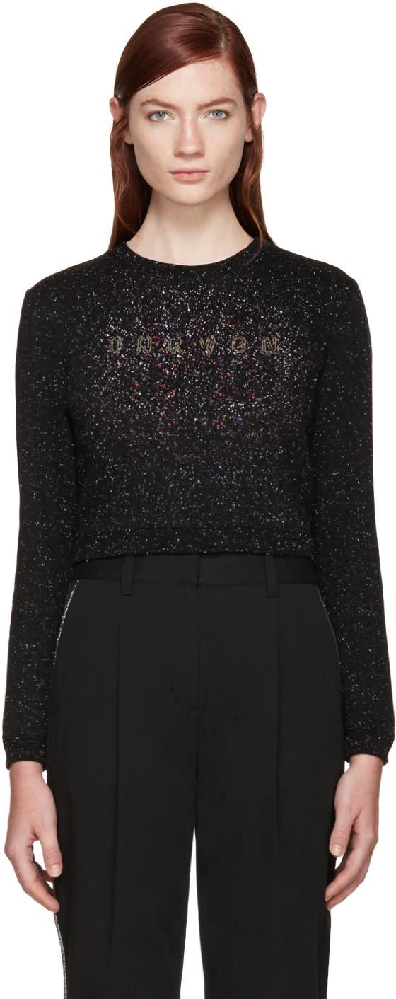 Carven Black Speckled Logo Sweatshirt