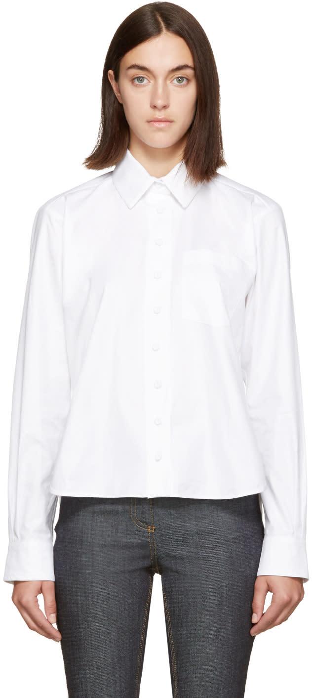 Carven White Long Sleeve Shirt