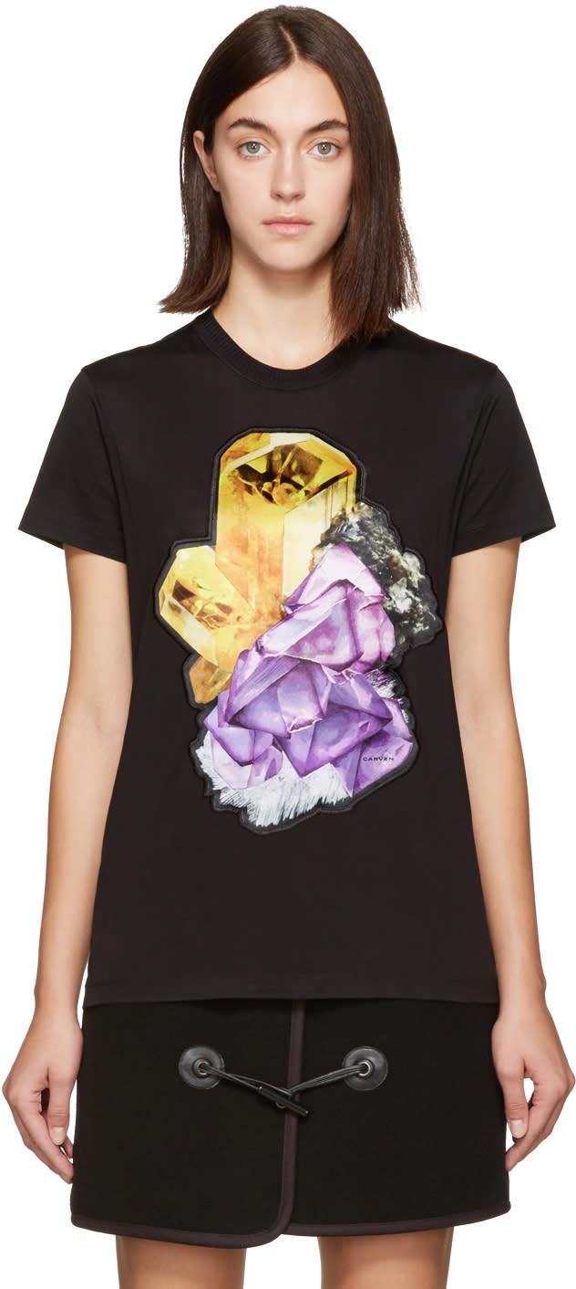 Carven Black Crystal T-shirt