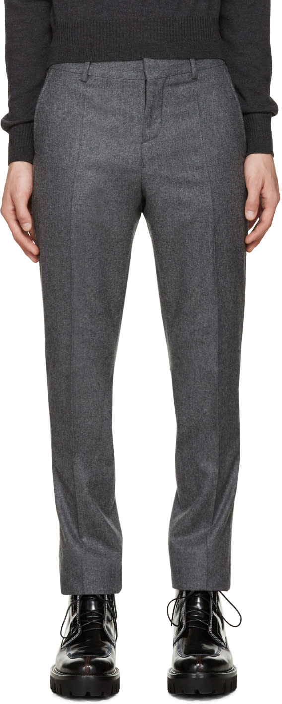 Carven Grey Wool Trousers