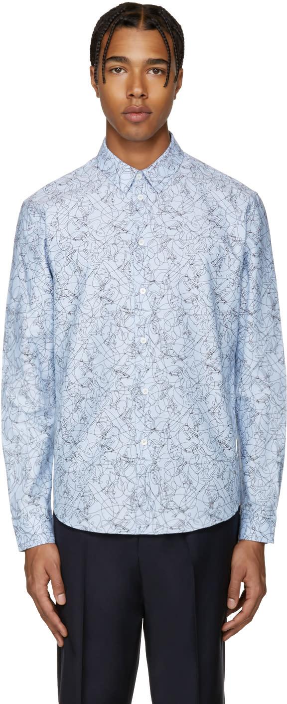 Carven Blue Skateboard Shirt
