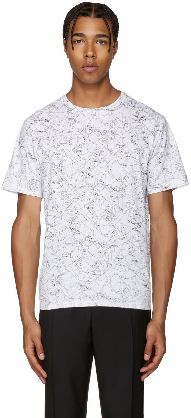 Carven White Skateboard T-shirt