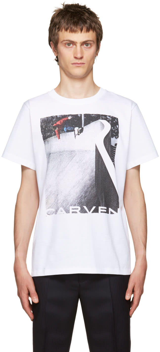 Carven White Graphic T-shirt