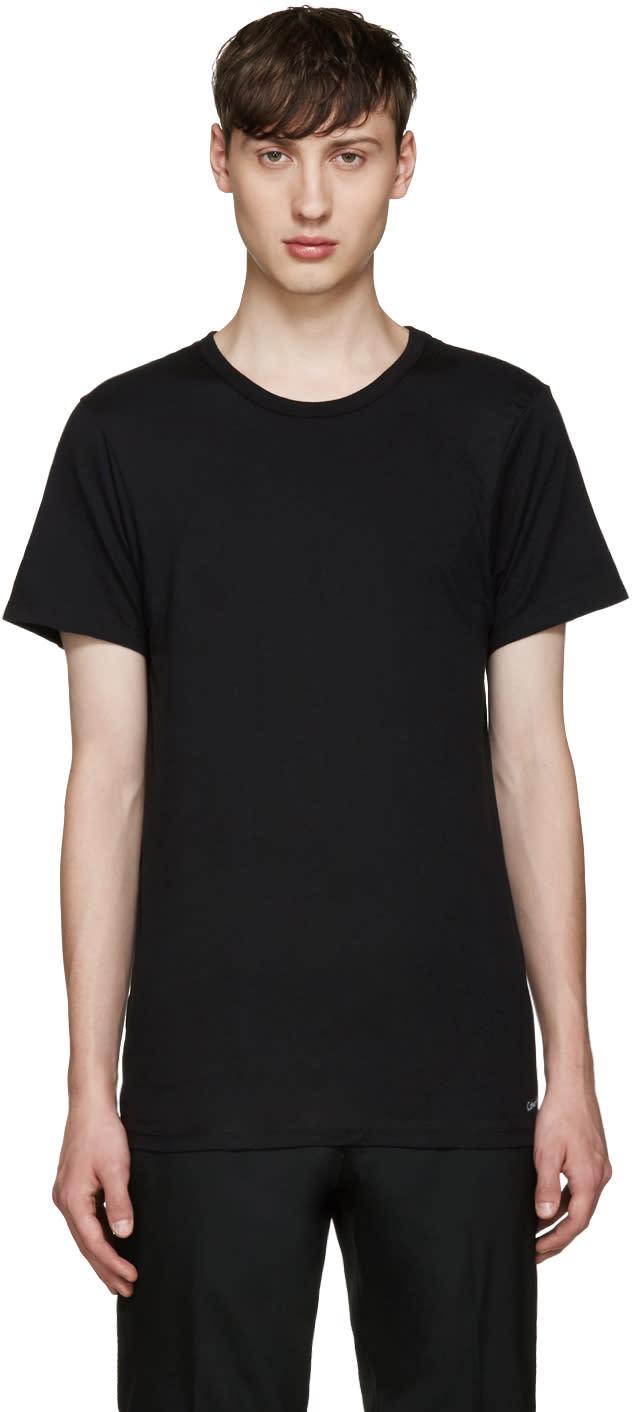 Calvin Klein Underwear Three-pack Black Slim-fit Undershirt