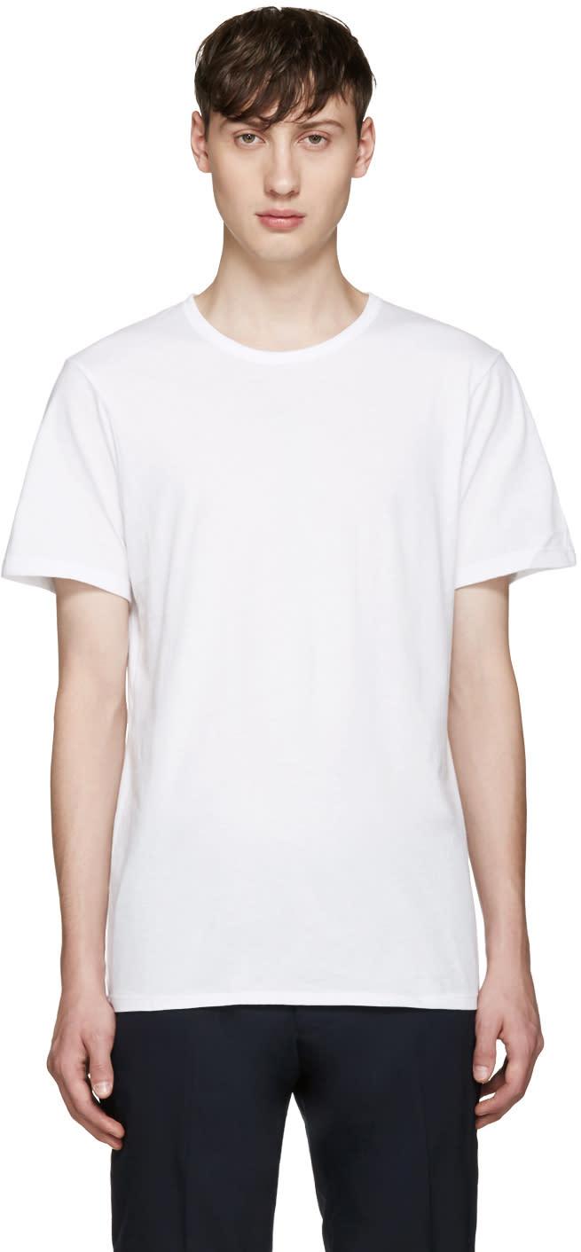 Calvin Klein Underwear Three-pack White Slim-fit Undershirt