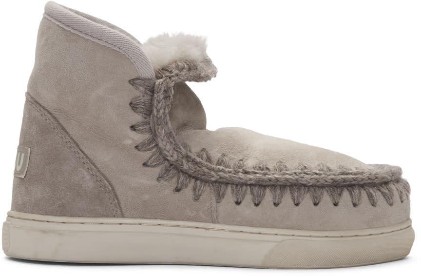 Mou Taupe Mini Eskimo Boots