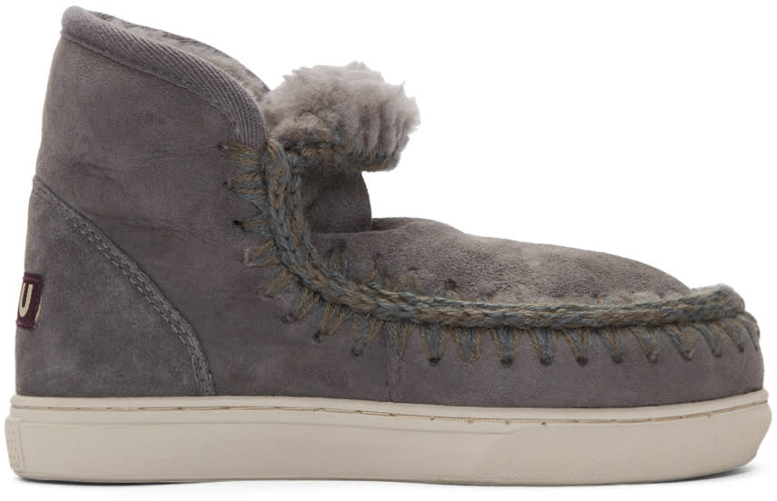Mou Grey Mini Eskimo Boots