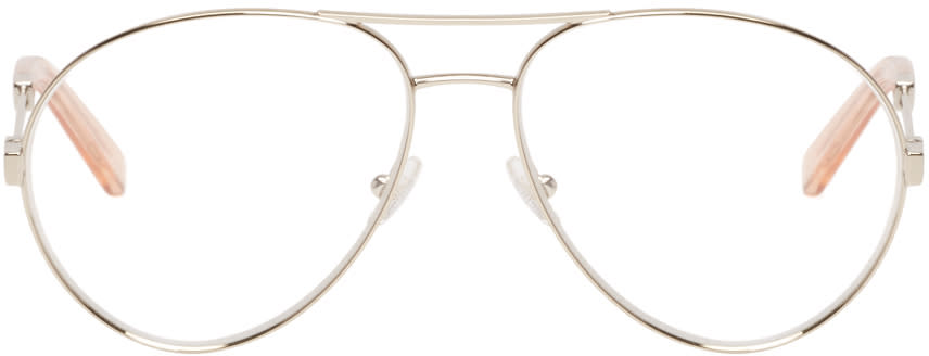 Chloé Gold Aviator Optical Glasses
