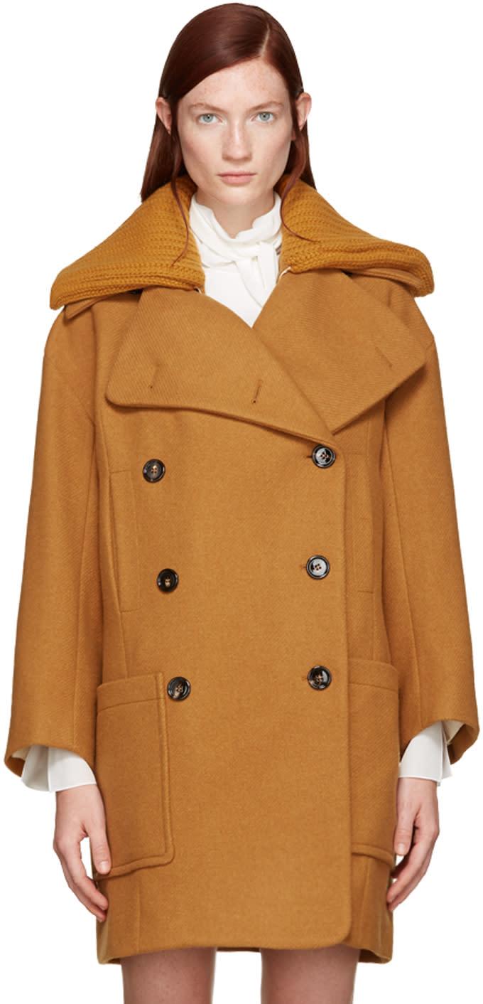 Chloe Orange Wool Iconic Coat