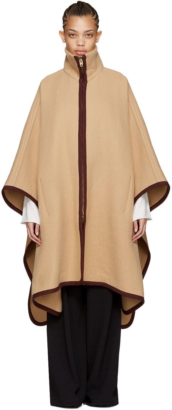 Chloe Tan Long Cape Coat