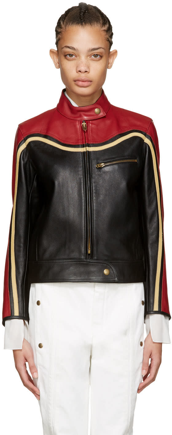 Chloe Black Leather Biker Jacket