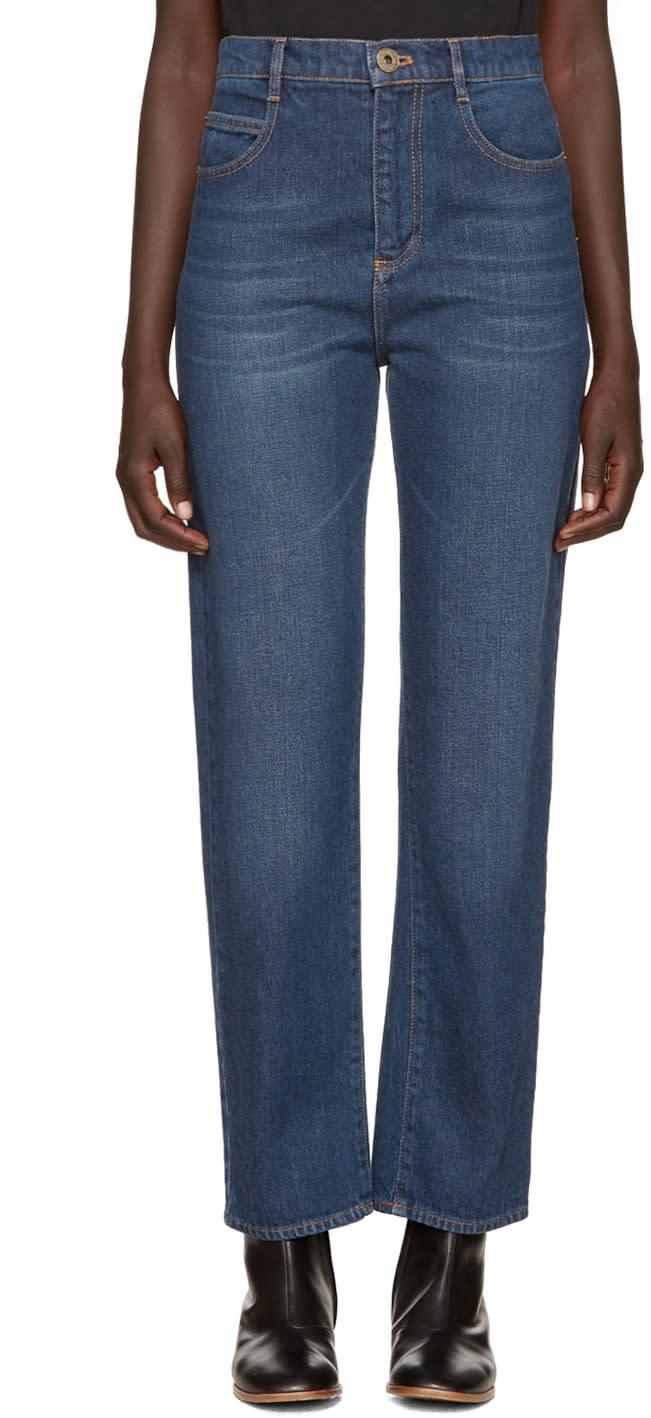 Chloe Blue Straight-leg Jeans