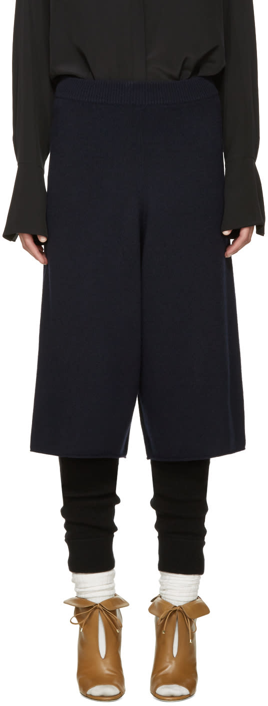 Chloe Navy Cashmere Culottes