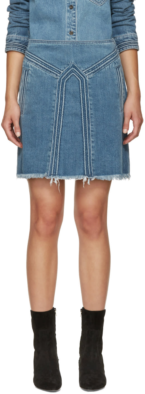 Chloe Blue Denim Miniskirt