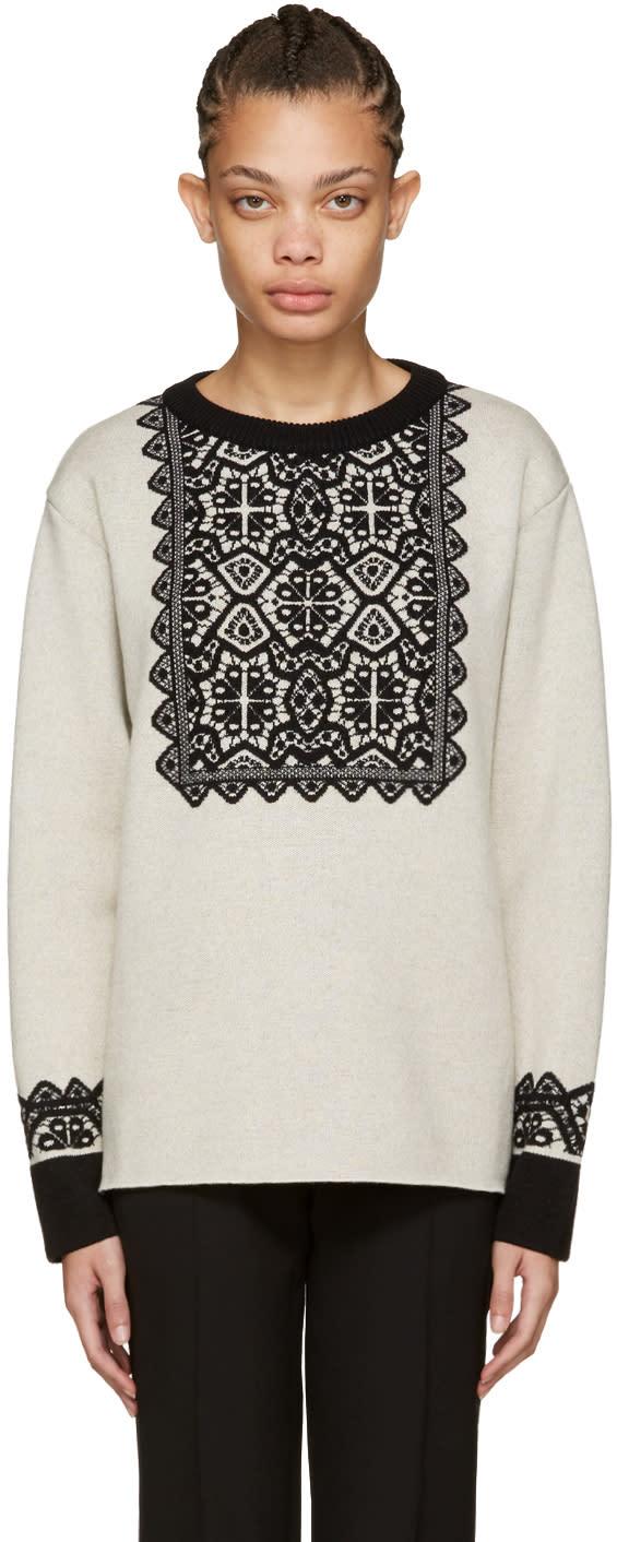 Chloe Beige Wool Stencil Sweater