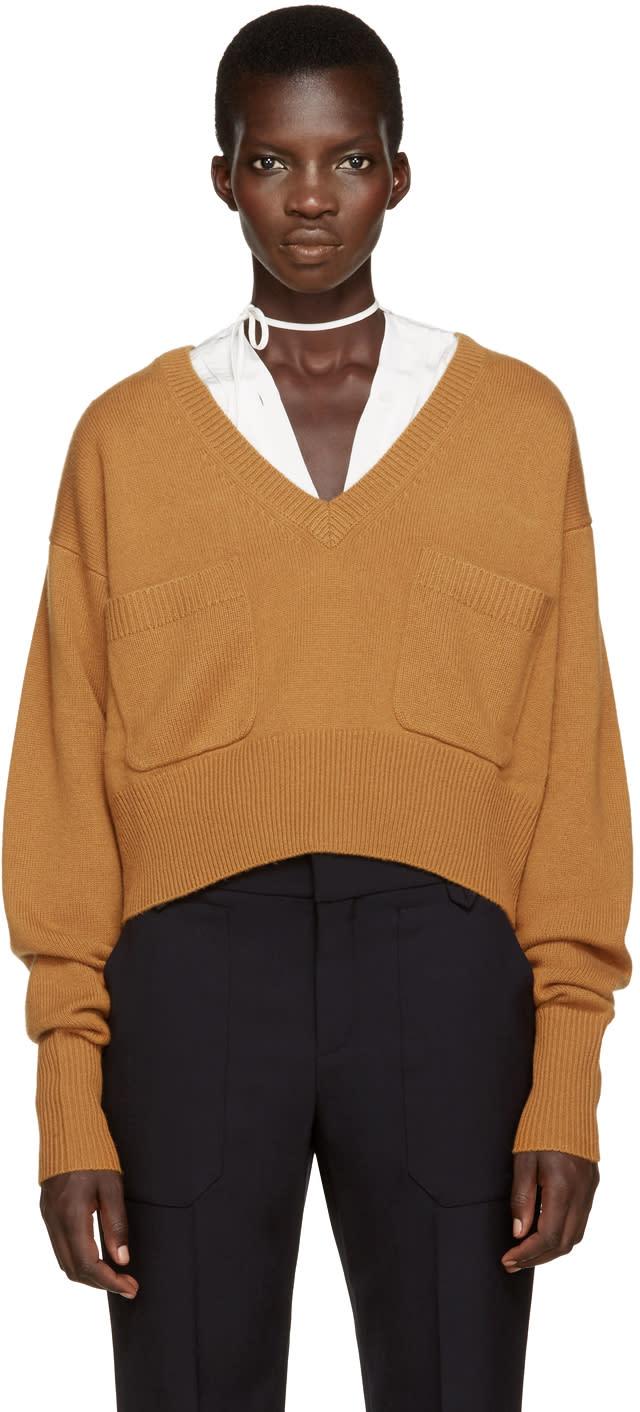 Chloe Orange Cashmere Sweater