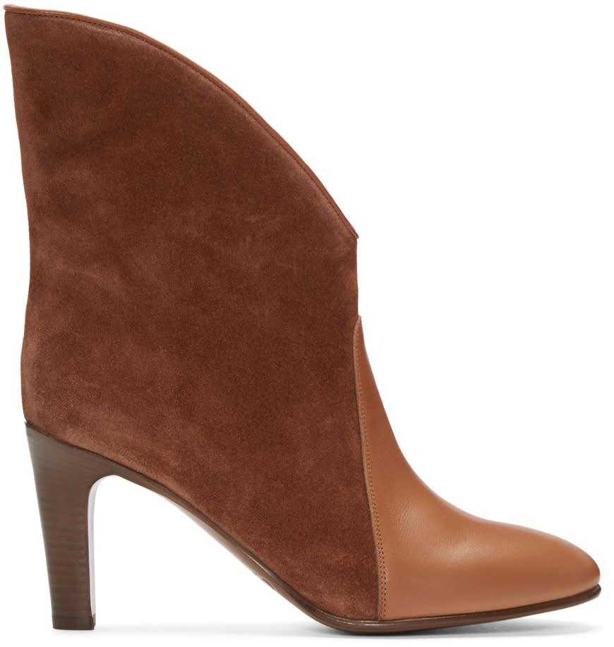 Chloe Brown Suede Kole Boots