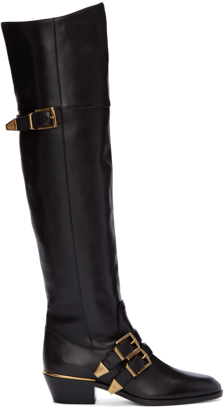 Chloe Black Over-the-knee Susan Boots