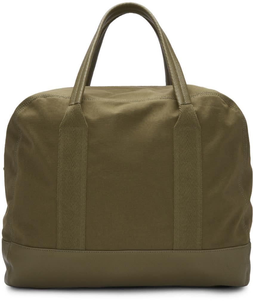 Balenciaga Khaki Canvas Surplus Duffle Bag
